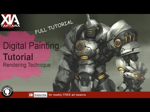 Digital Painting Tutorial: Rendering Monochrome To Color | Character Art
