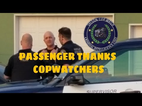 Black man thanks Oregon CopWatchers for getting there on time