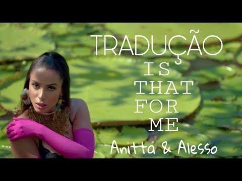 Tradução da nova a da Anitta & Alesso - Is That For Me