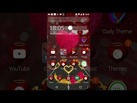Best Love Android Theme-3D Heart Love ❤