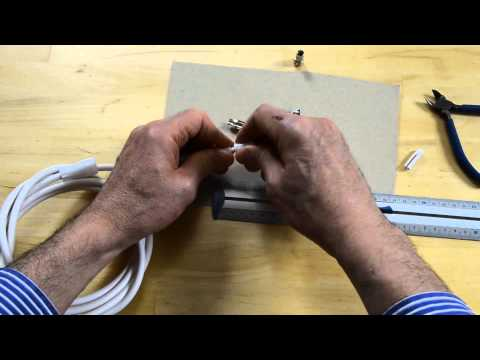 Comment monter ou réparer un câble d'antenne TV avec connecteur F à visser et 9.5 mm