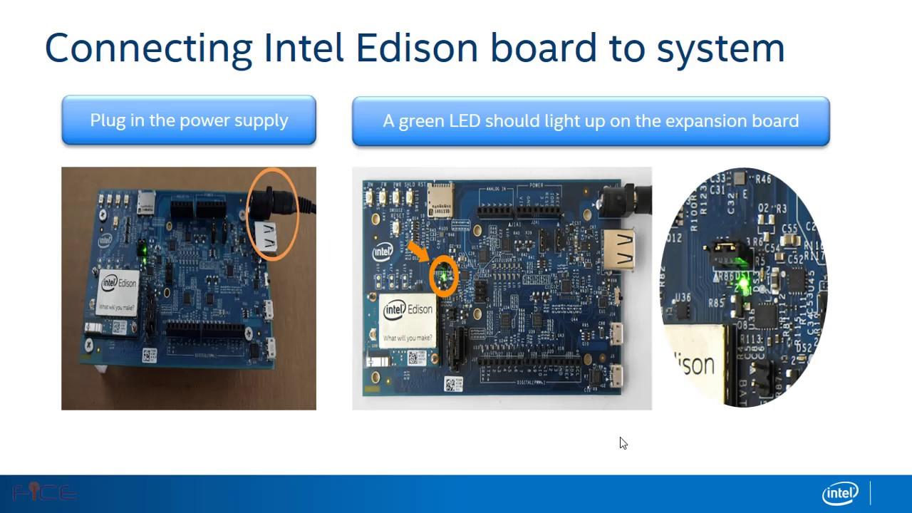 Intel edison arduino application development youtube