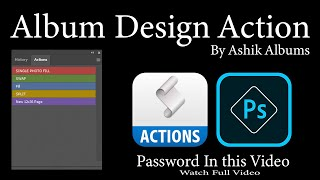 Album Design Action In PhotoShop CC 2020 || Download Action Free || Ashik Albums