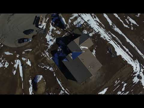 Fernley Nevada - Sage Ranch - Drone flight over concrete pour
