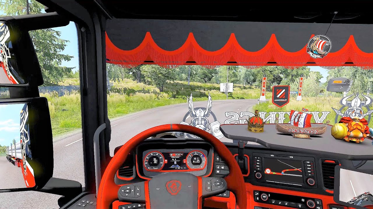Euro Truck Simulator 2 (v1.38) - Scania S Next Gen Tuning V8 Sound + Skin + Interior [SCS Trailer] #1