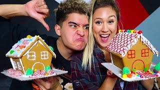 BOYFRIEND vs GIRLFRIEND GINGERBREAD HOUSE!