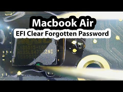 2015 Macbook Air A1466 Clear EFI Forgotten Password