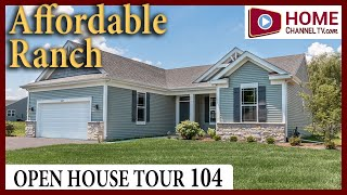Open House Tour 104 - New Affordable Ranch Home at Woodland Meadows by KLM Builders