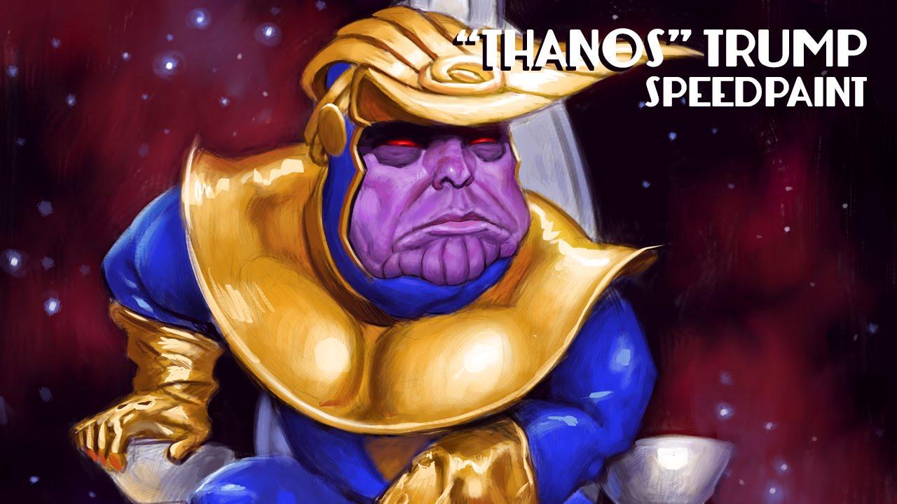 суперзлодей - Танос-трамп.