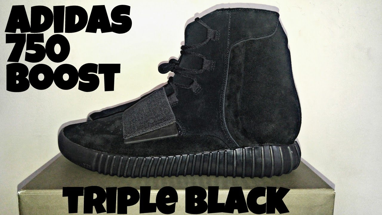 Adidas yeezy 750 boost triple black honest review and thoughts - YouTube 29a9a1b138e4