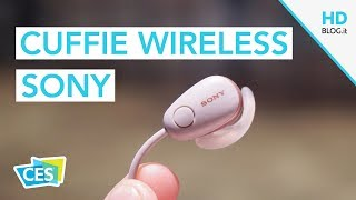 SONY, nuove cuffie sportive wireless con Noise Cancelling | CES 2018