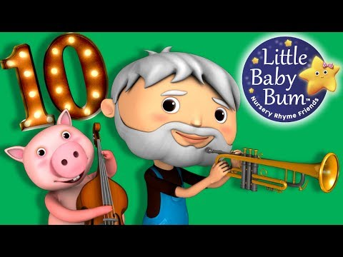 This Old Man He Played One | Nursery Rhymes | By LittleBabyBum!