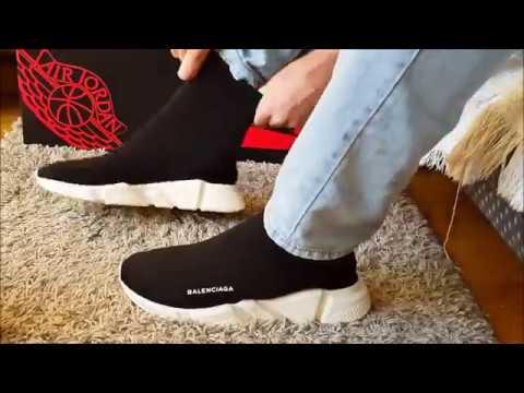 Balenciaga Speed Trainer On-Feet! - YouTube