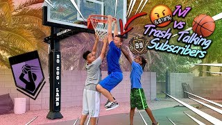 Download 1v1 vs Trash Talking Subscribers in Basketball! Mp3 and Videos