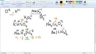 Считаем степень окисления, химия 7-9 класс
