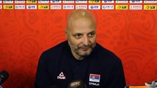 Aleksandar Đorđević nakon Pobede nad Angolom u 1. Kolu Svetskog Prvenstva   SPORT KLUB KOŠARKA