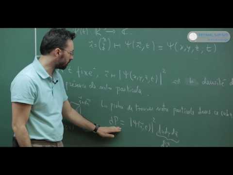 Mécanique quantique : Cours math spé. Equations de Schrodinger...