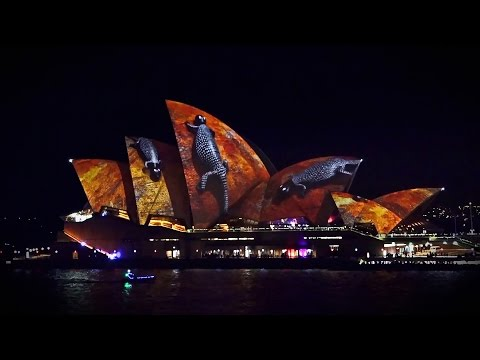 Vivid light festival 2016 Sydney Opera House full hd 50fps Australia