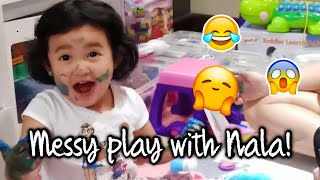 Painting with Nala (Messy Playtime) | Camille Prats
