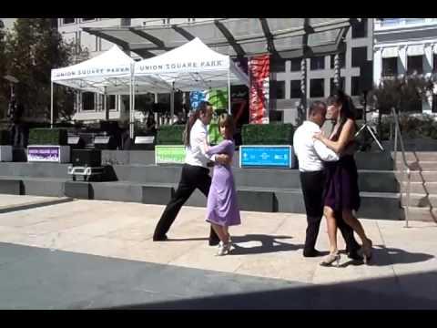 Student Tango Exhibition - Union Square San Francisco - 7 Sep 2014