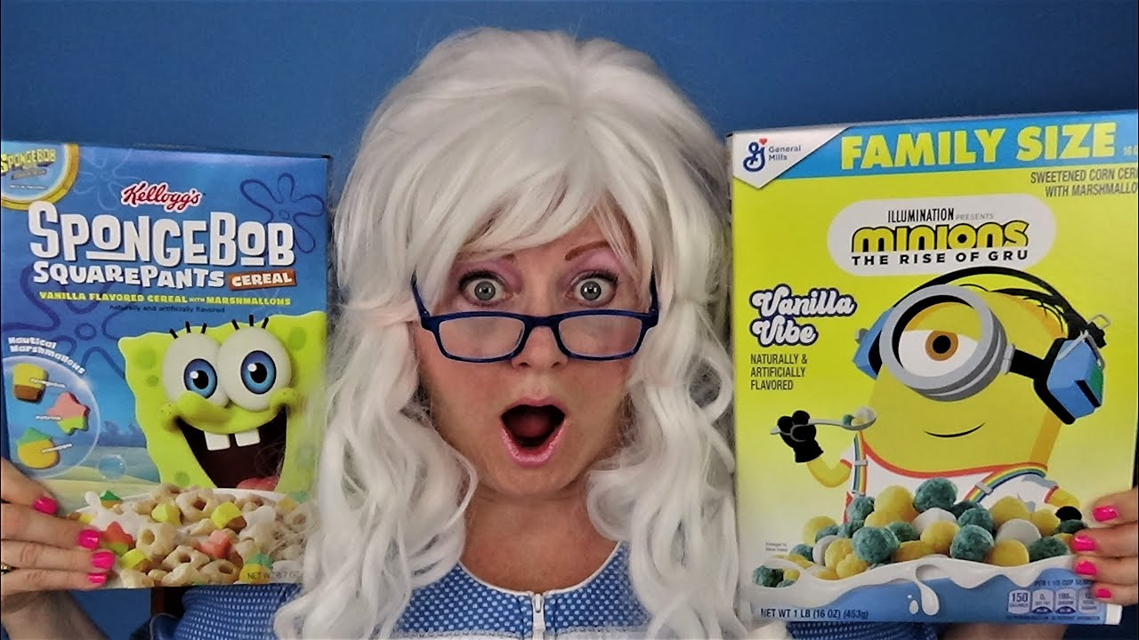 SpongeBob SquarePants Minions Gru Lucky Charms Honey Clovers Granny McDonald Taste Test