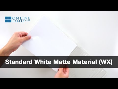 Standard White Matte Labels in an OnlineLabels.com Clamshell
