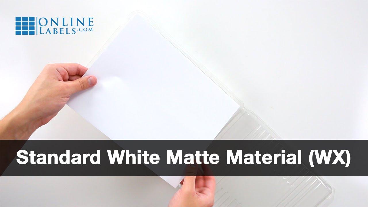 Sticker Paper Standard White Matte