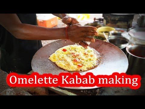Yummy ! Omelette Kabab  Yadav Omelette Center , Surat