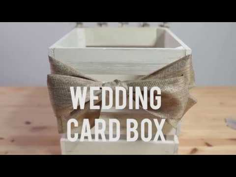 How To Make A Wedding Card Gift Box For Your Boho Vintage Wedding