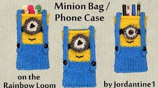 New Minion Bag / Phone Case / Purse / Pencil Pouch - Made on the Rainbow Loom