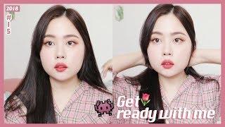 2018.GET READY WITH ME#15. 생머리 쫙쫙! 같이 준비해용🌷💞 (이글립스 새쿠션) | WOORIN