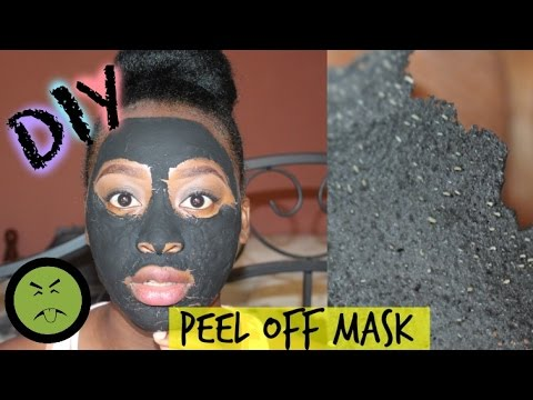 Homemade charcoal peel off mask for blackheads
