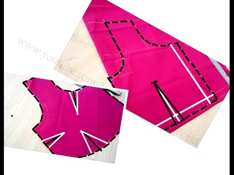 Blouse Drafting ,Cutting & Stitching With Simple Method & Tips | DIY | Cross| Straight  Cutting