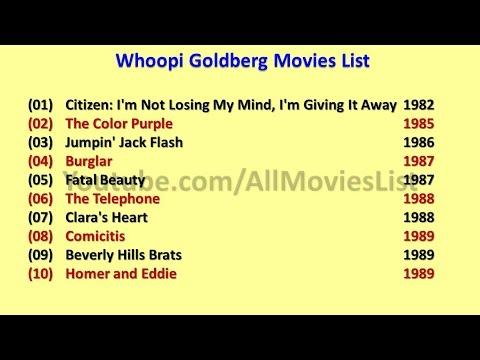 Whoopi Goldberg Movies List