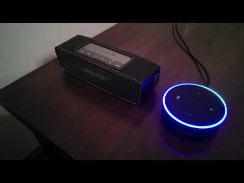 Amazon Echo Dot with a Bose Speaker