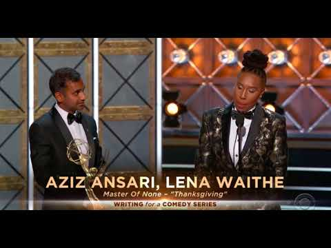 Aziz Ansari, Lena Waithe win Emmy for coming out story  || SocialNews.XYZ