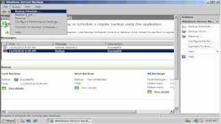 Windows Server 2008 Backup and Restore