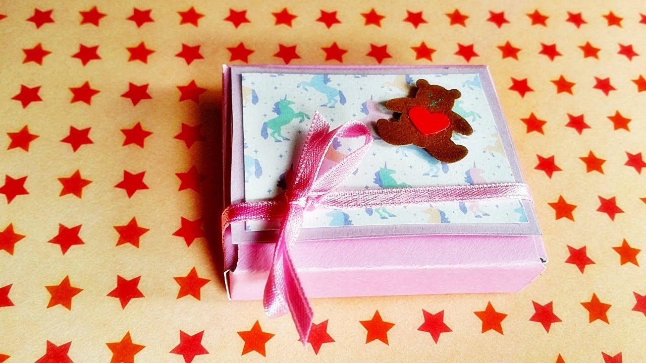 basteln geschenkbox mit einhorn und teddy baby geschenk. Black Bedroom Furniture Sets. Home Design Ideas