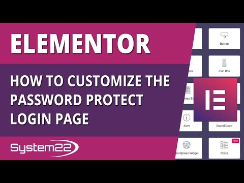 Elementor How To Customize The Password Protect Login Page 👈