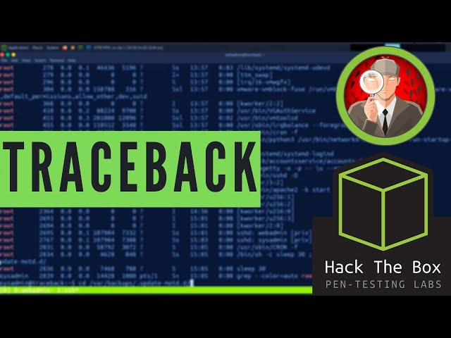 HackTheBox Walkthrough Using Pwnbox - Traceback