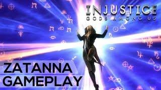 INJUSTICE: GODS AMONG US - Zatanna Gameplay (Clash, Super Move, Outro) HD - Xbox 360 PS3 PC Wii U