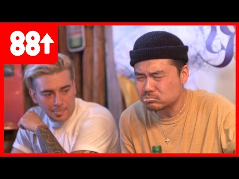 Dumbfoundead and Getter Eat Silkworm Larvae | Food Trip w/ Chris Oh