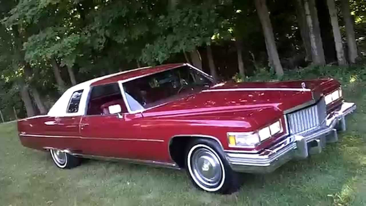 1975 cadillac coupe deville 12 500 sold youtube. Black Bedroom Furniture Sets. Home Design Ideas