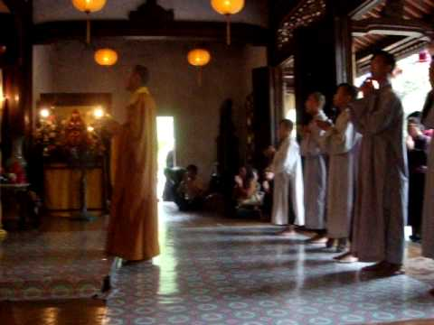 Buddhist Monks praying in Hue