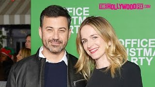 """Jimmy Kimmel & Pregnant Wife Molly McNearney Attend The """"Office Christmas Party"""" Movie Premiere"""