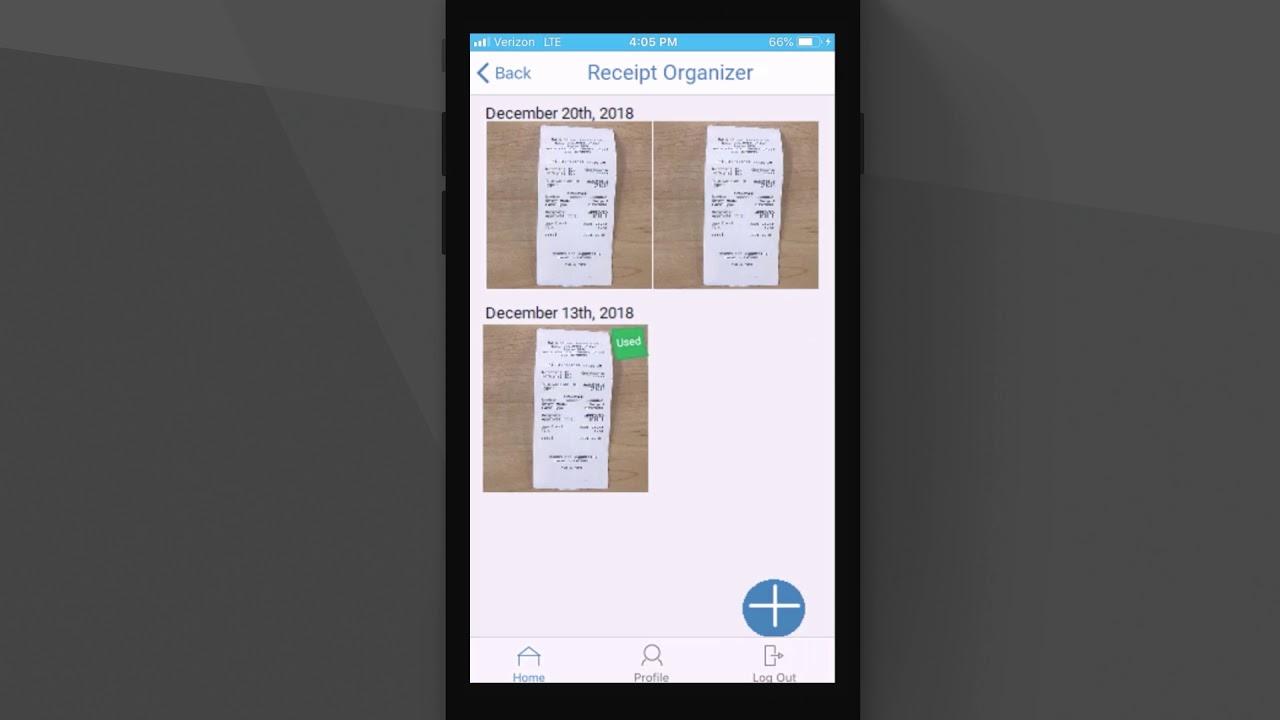 Mobile App Receipt Organizer