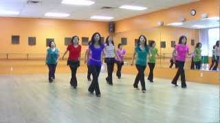 Hula Hoop - Line Dance (Dance & Teach in English & 中文)