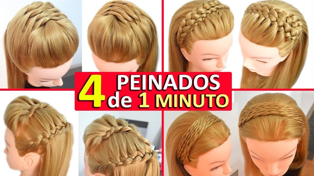 4 Peinados Casuales Para Cabello Largo Con Trenzas Diademas Faciles