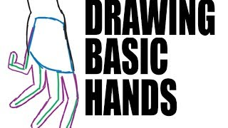 DRAWING A BASIC HAND: 3 quick steps.