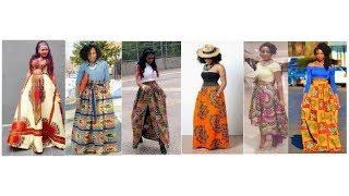 Ankara Maxi Skirt and Blouse Styles